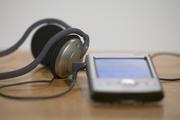 Headphones and a PDA
